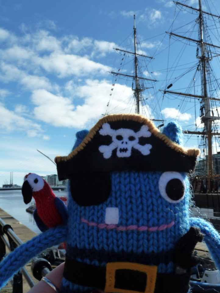 Pirate Beastie and his ship