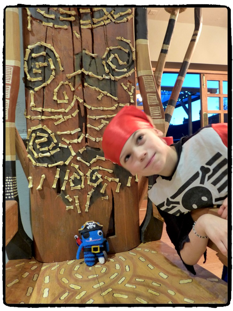 Pirate Beastie on Throne