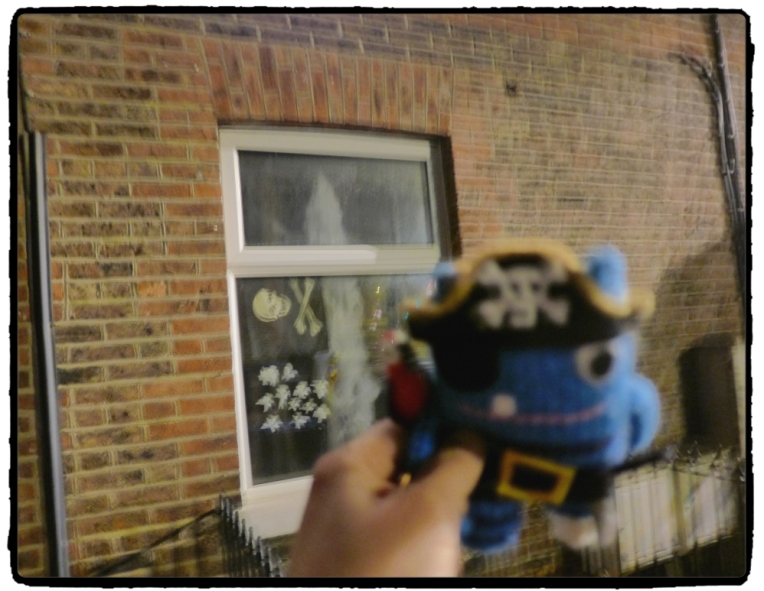 Pirate Beastie outside the house