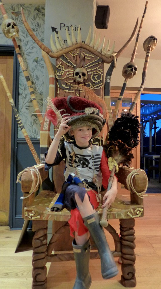 Thom on Pirate throne