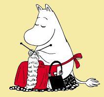 moomin mama knitting