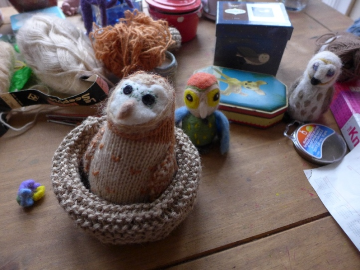 Knitted Owl 1