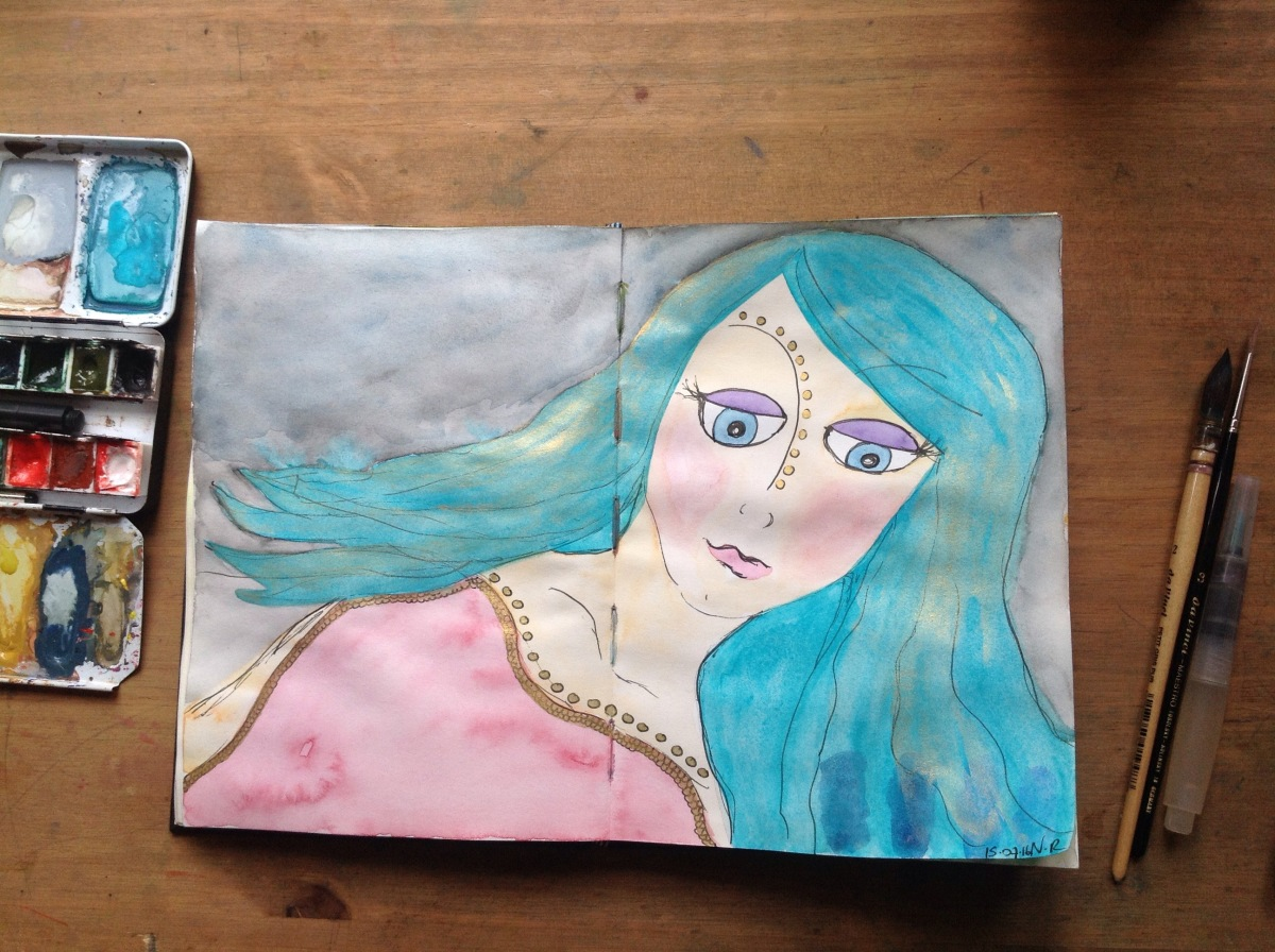 The mermaid who rose from thesea…